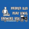 PROPER DJS PLAY VINYL  /  PALE BLUE T SHIRT MEDIUM