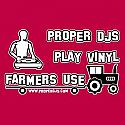 PROPER DJS PLAY VINYL  /  RED T SHIRT MEDIUM