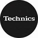 SLIPMATS / TECHNICS LOGO BLACK WITH WHITE WRITING